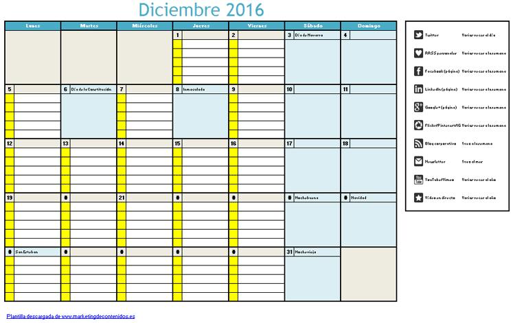 Calendario editorial mensual: test, plantilla y guía para planificar ...